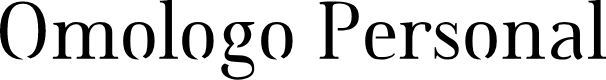 Preview image for Omologo Personal Font