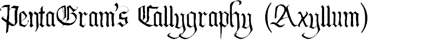 Preview image for PentaGram's Callygraphy Regular Font