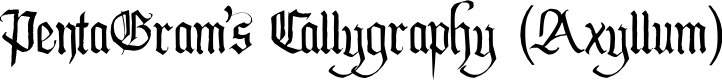 Preview image for PentaGram's Callygraphy Regular Font