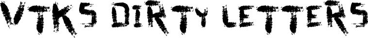 Preview image for vtks dirty letters Font