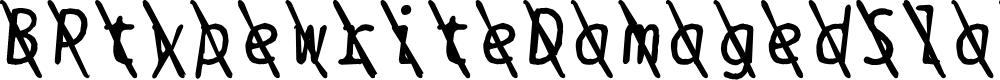 Preview image for BPtypewriteDamagedSlashed Italic