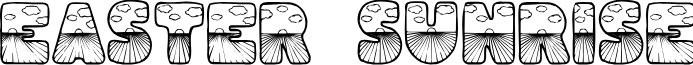 Easter Sunrise font