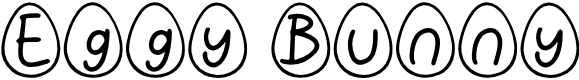 Preview image for Eggy Bunny Font