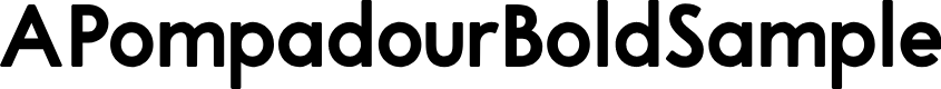 Preview image for APompadourBoldSample Font