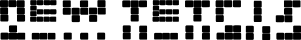 Preview image for NEW TETRIS Font
