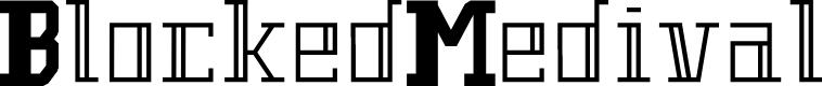 Preview image for BlockedMedival Font