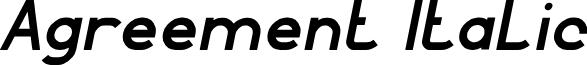 Agreement Italic