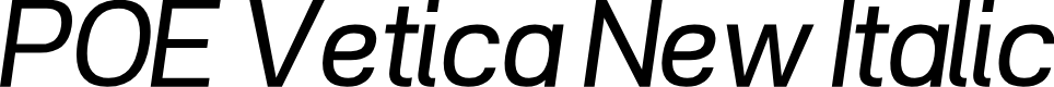 Preview image for POE Vetica New Italic