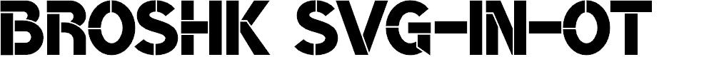 Preview image for BroshK Font