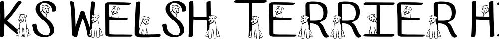 Ks Welsh Terrier Hide N Seek by Pretty Little Line Designs