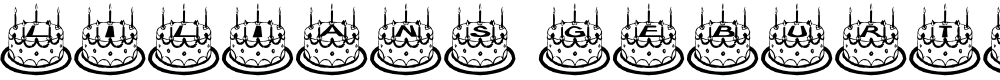 Preview image for Lilians Geburtstag Font