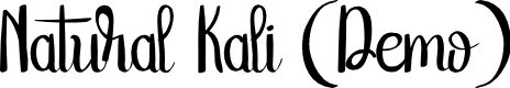 Preview image for NaturalKaliDEMO Font
