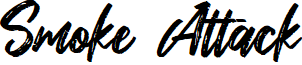 Smoke Attack font
