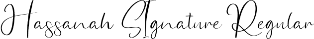 Preview image for Hassanah SIgnature Regular Font