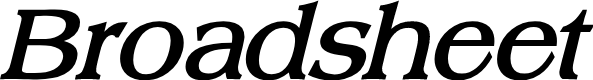 Preview image for Broadsheet LDO Bold Italic