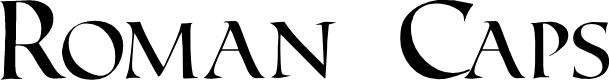 Preview image for Roman Caps Font