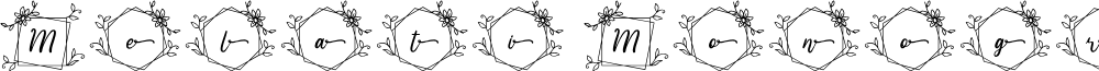 Melati Monogram Regular