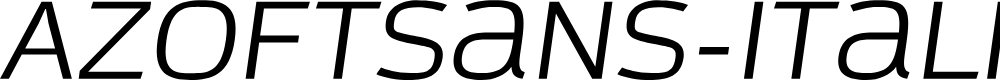 Preview image for AzoftSans-Italic