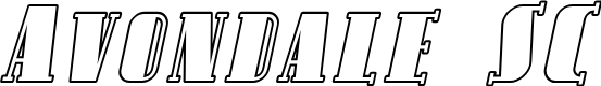 Preview image for Avondale SC Outline Italic