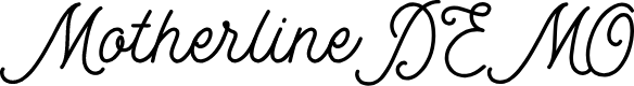 Preview image for MotherlineDEMO Font