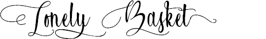 Preview image for Lonely Basket Font