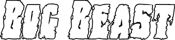 Preview image for Bog Beast Outline Italic