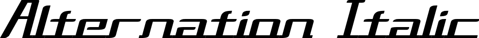 Preview image for Alternation Italic