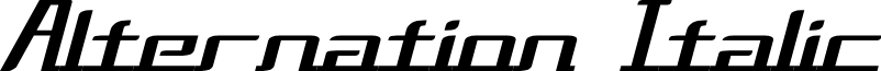Alternation Italic