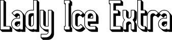Preview image for Lady Ice - 3D Font