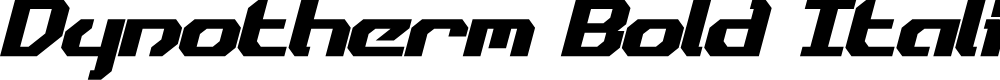 Preview image for Dynotherm Bold Italic