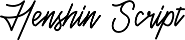 Preview image for Henshin Script Personal Use Font