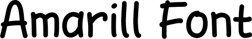 Preview image for AmarillReg Font