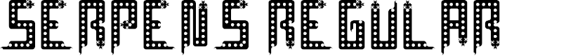 Preview image for Serpens Regular Font