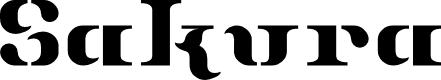 Preview image for Sakura RegularE Font
