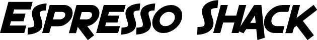 Preview image for SF Espresso Shack Bold Italic