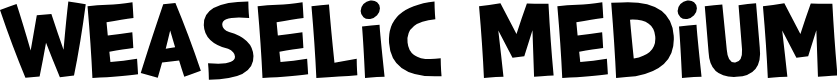 Preview image for Weaselic Medium Font