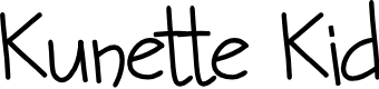 Preview image for Kunette Kid Font
