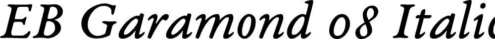 Preview image for EB Garamond 08 Italic