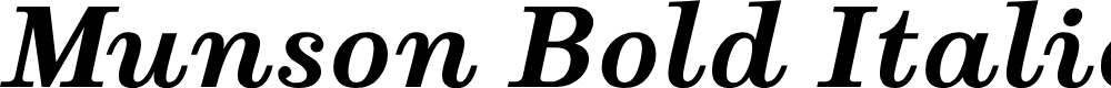 Preview image for Munson Bold Italic