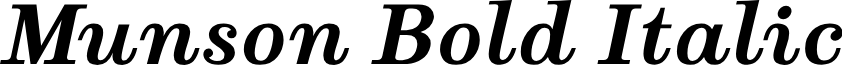 Munson Bold Italic