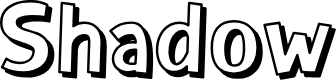 Preview image for Shadow Font