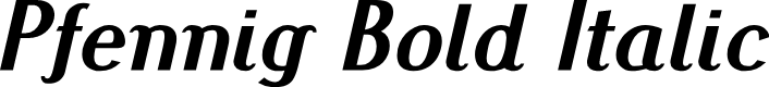 Preview image for Pfennig Bold Italic