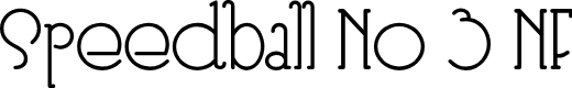 Preview image for Speedball No 3 NF Font