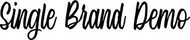 Preview image for Single Brand Demo Font
