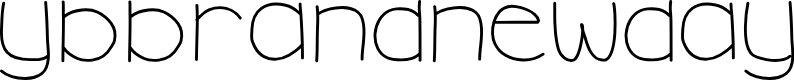 Preview image for YBBrandNewDay Font