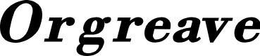 Preview image for Orgreave Bold Italic