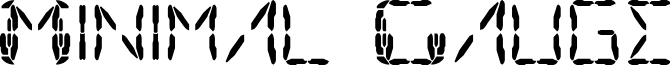 Minimal Gauge font