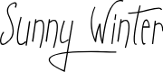 Preview image for Sunny Winter Font