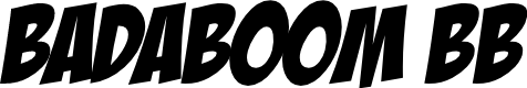 Preview image for BadaBoom BB Font