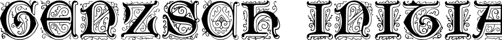 Preview image for Genzsch Initials Font
